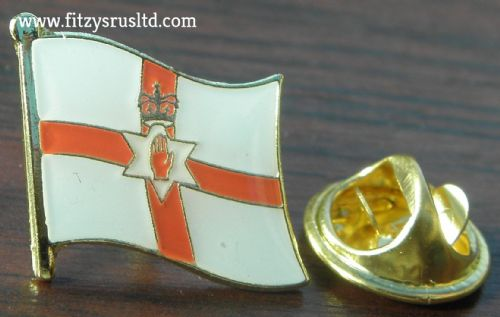 Northern Ireland Flag Lapel Hat Cap Tie Pin Badge Red Hand of Ulster Brand New